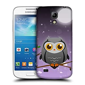 Case Fun Grey Owl by DevilleART Snap-on Hard Back Case Cover for Samsung Galaxy S4 Mini (i9190) by icecream design
