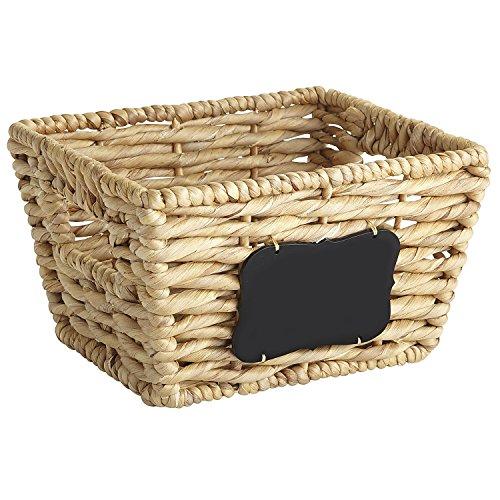 Pier 1 Imports Bryant Small Wicker Basket Storage with Chalkboard Label ()