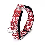 LOVELY Personalized Fabric Super Strong Durable Martingale Collars For Dogs Heavy Duty Nylon Dog Collar 2.5Cm To 3.8Cm Wide Necklace 04 Width 3.8cm