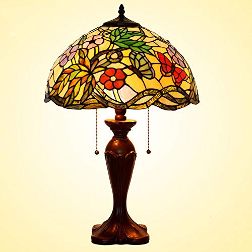 Tiffany Folding Bar - Table Lamp Tiffany Style Stained Glass Lamp Cafe Bar Lamps Retro Living Room Bedroom Zinc Alloy Base European Hotel Club Commercial Decoration Lamp110v-220V E27x2 (Without Light Bulb),220V