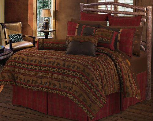 HiEnd Accents Cascade Lodge Bedding, Full