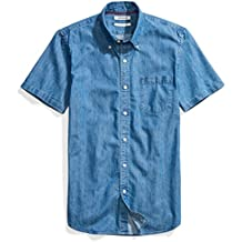 Goodthreads Men's Slim-Fit Short-Sleeve Denim Shirt