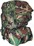 Our Woodland Camo MOLLE II Standard Packs are fully assembled. They include: the main pack, modular sleep system carrier, shoulder straps, waist belt & black frame. Every component is Genuine Military Issue. The standard pack has tons of capacity...