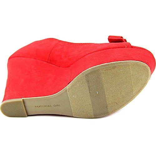 Material Girl Debbie Kvinnor Us 6 Röd Kilklack