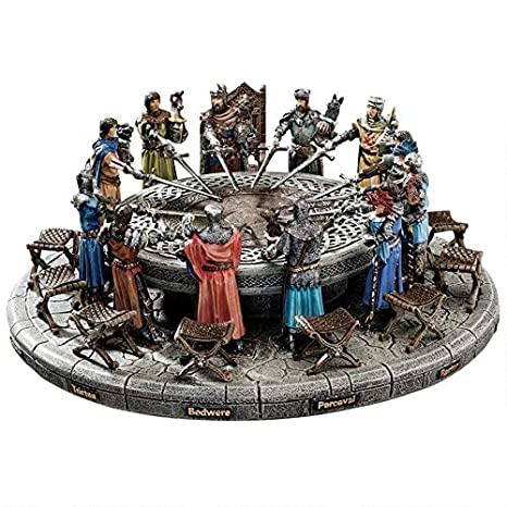 12 Knights Of The Round Table.Design Toscano King Arthur And The Knights Of The Round Table Medieval Statue Set Includes 12 Knights 12 Chairs And Table Display 13 Inch