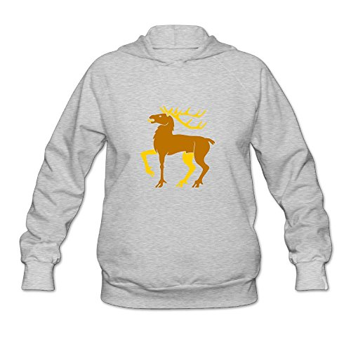 Dogquxio Women's Christmas Elk Tops Blouse Leisure With A Hat Without Pocket Hoodie Sweatshirt Hooded Pullover XXL Ash