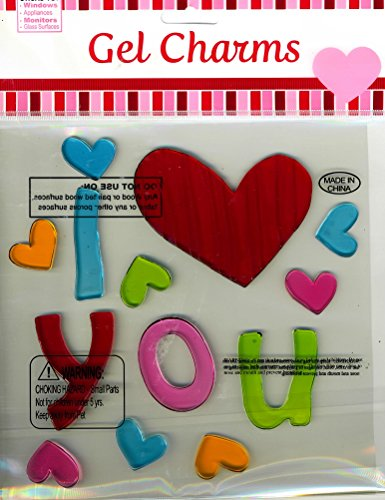 Nantucket Home I Love (Heart) You Valentine's Day Gel Window Clings