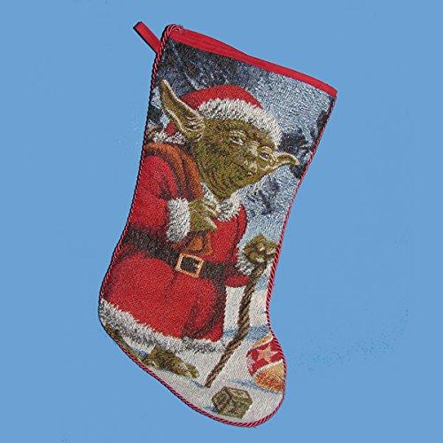 Kurt Adler Star Wars Classic Yoda Tapestry Stocking, 19-Inch