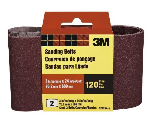 3M 9272NA-2 Heavy Duty Power Sanding Belts, 3-Inch by 24-Inch, Fine Grit, 2-pack by 3M Review