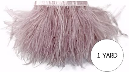 1 Yard Navy Blue Ostrich Fringe Trim Wholesale Feather Halloween Costume Craft
