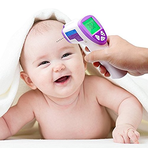 COSSCCI Infrared Digital Baby Thermometer, Non-Contact Electronic Forehead and Ear Thermometer for Baby, Infant, Toddler and Adults