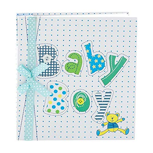 Whimsical Blue BABY BOY s First PHOTO ALBUM Newborn Infant BOY HOLDS 72 Photos 4 x 6 Great BABY SHOWER or Christening Gift IT S A BOY New Moms