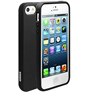 Anker Glaze Case for iPhone 5 - Ultra Slim Fit 0.9mm with Flexible Matte TPU Skin - Retail Packaging (Opaque Black)