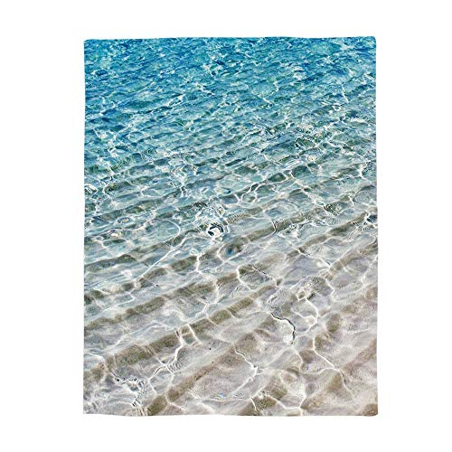 Seawater Conditioning Air - Bed Blanket 49x59inch Clear Seawater Unique Air Conditioning Throw Blanket for Bedroom Living Rooms Sofa Travel Stadium Blanket Cover