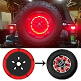 Spare Tire Brake Light Wheel Light LED 3rd Third Brake Light Lamp Ring for Jeep Wrangler 1997-2017 JK TJ LJ YJ CJ