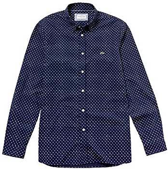 Lacoste Camisa CH4877 Topos Azul Hombre 40 Marino: Amazon.es: Ropa ...