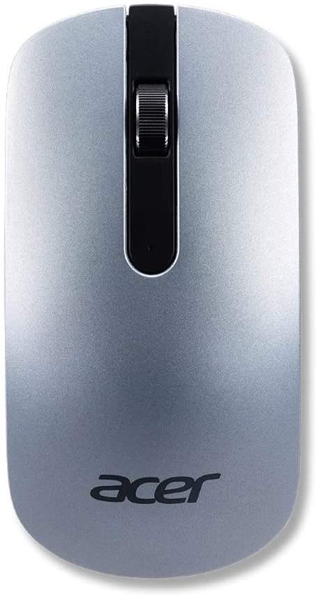 Acer Slim Wireless Optical Mouse - Silver