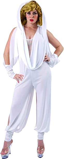 Disfraz de Cantante Estrella de Pop Australiana Mameluco Blanco ...