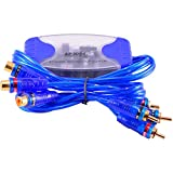 EopZol™ 4-Channel RCA Audio Noise Filter Suppressor Ground Loop Isolator Car Stereo 50W
