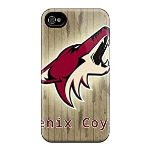For Mwaerke Iphone Protective Case, High Quality For Iphone 4/4s Phoenix Coyotes Skin Case Cover