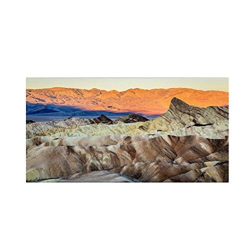 Zabriskie Point Sunrise Artwork by Pierre Leclerc, 24 by 47-Inch Canvas Wall (Sunrise Death Valley National Park)