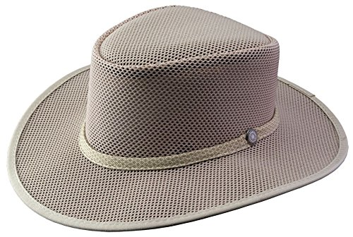 Cabana Home (Head 'N Home - Cabana Latte SolAir Breathable Mesh Shade Hat - Size Medium)