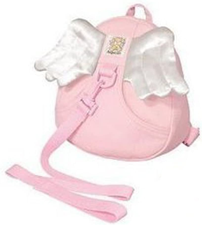 Angel-Pink Toddler Safety Harness Kid Babies Backpack Reins Harnesses Babies Kids Backpack Bag with Wings Strap Harness Safety Child Toddler Walking Rein