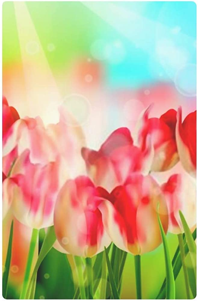 Womens Walle Beautiful Colorful Tulips Garden Includes Eps Womens Wallets Travel Trifold Wallet Multi Card Organizer Trifold Womens Wallet Large Bloc