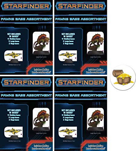 Bundle of 4 Starfinder Pawns Base Assortments Plus a Star Fighter Button