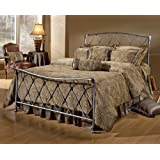 Hillsdale Silverton Metal Sleigh Bed in Bronze Pewter Finish - King
