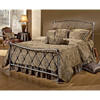Hillsdale Furniture 1298BKR Silverton Bed Set with Rails, King, Brushed Silver