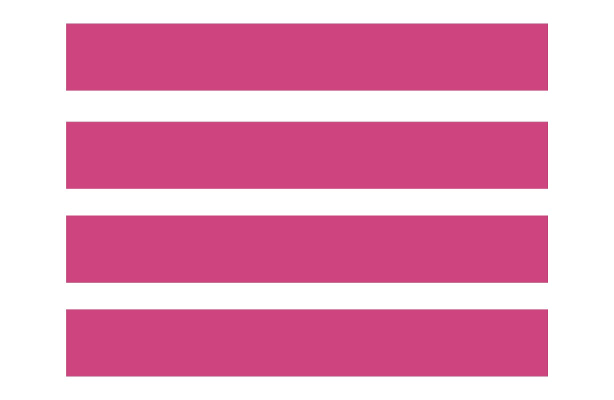4 Large Hot Pink Wall Stripes - Pattern Vinyl Wall Art Decal for Homes, Offices, Kids Rooms, Nurseries, Schools, High Schools, Colleges, Universities