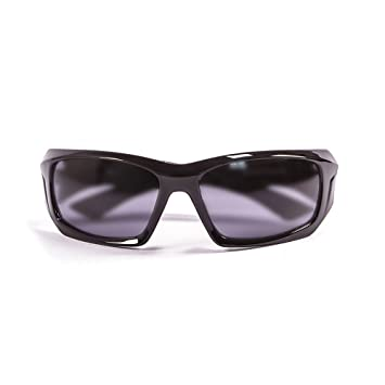 Ocean Sunglasses Antigua - lunettes de soleil polarisées - Monture : Noir Laqué - Verres : Fumée (3300.1) ub6e1C
