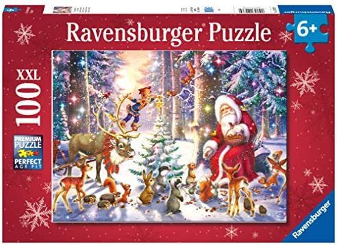 Ravensburger Christmas puzzle Santa and His Pack 2011 XXL 100 pieces No 106547