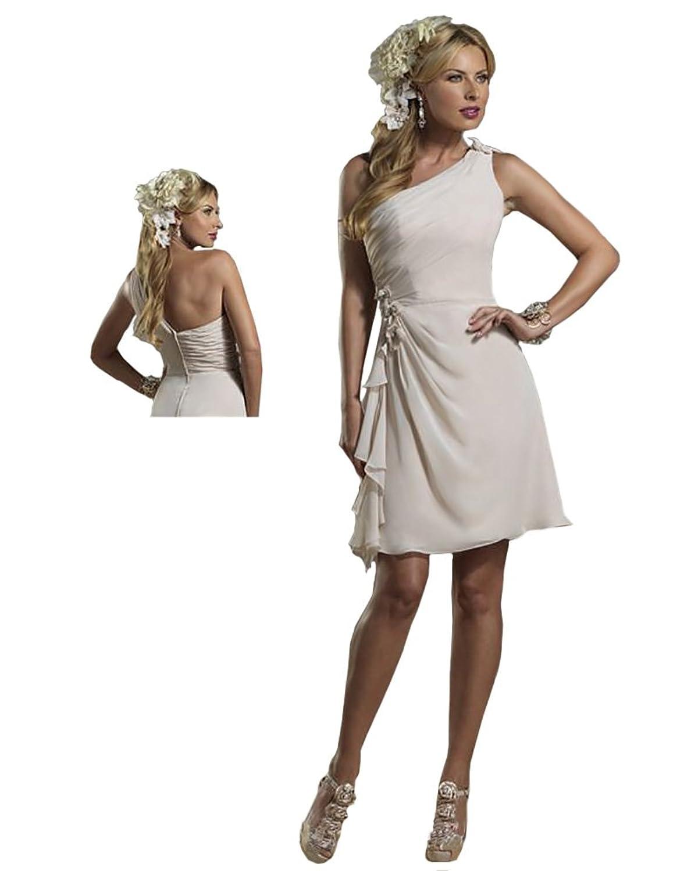 Forever Yours 7964 One Shoulder Short Chiffon Formal Dress