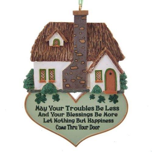 Kurt Adler Irish Home Blessing Ornament 3.5 inch