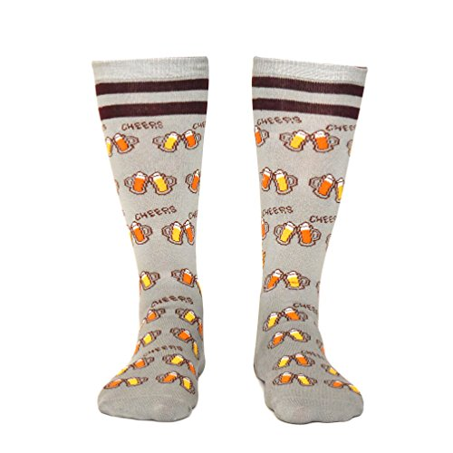 Saucey Socks Grey Bring Me Beer Socks, Luxury cotton unique CHEERS designs, Great Gift for Men and W - http://coolthings.us