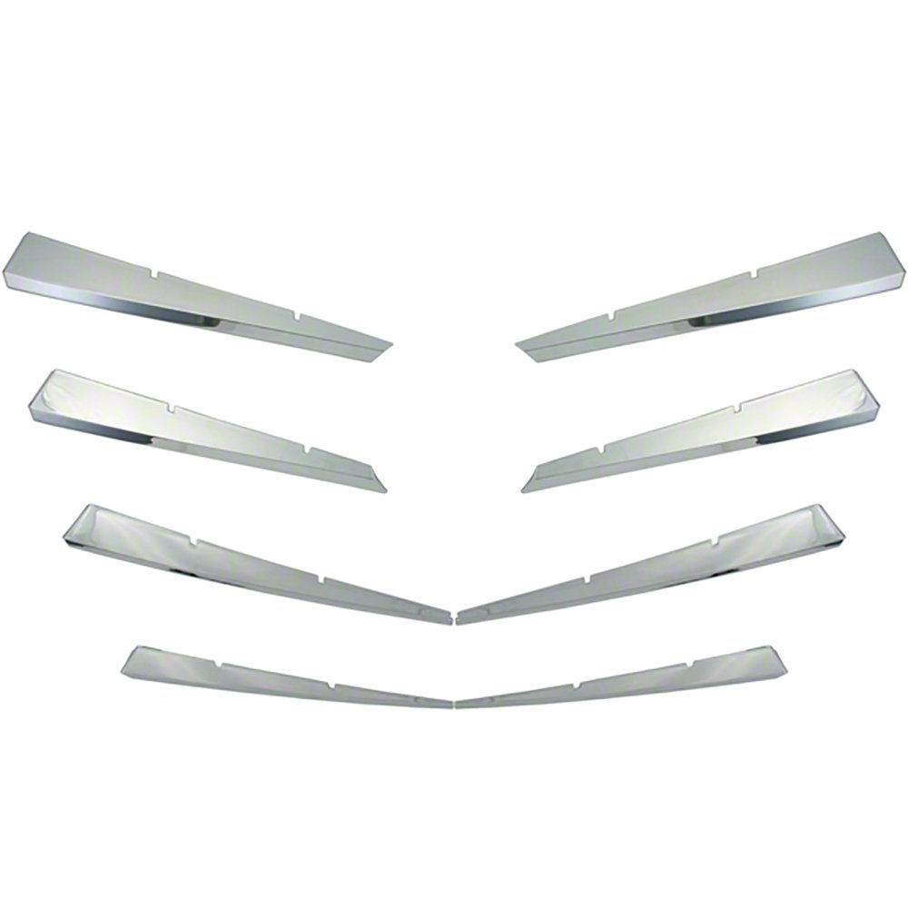 OxGord Front Grille Insert Overlay Trim for 2008-2011 Cadillac CTS- Chrome Snap On Billet Style - Car, Truck, SUV, Van & Jeep Replacement Accessories