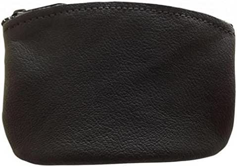 Classic Men's Large Coin Pouch Genuine Leather, Zippered Change Purse By Nabob