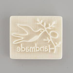 Kicode Peace Dove Design Handmade Yellow Resin Soap Stamp Stamping Soap Mold Mould Craft DIY Art Gift Fashion Beautiful 1pc