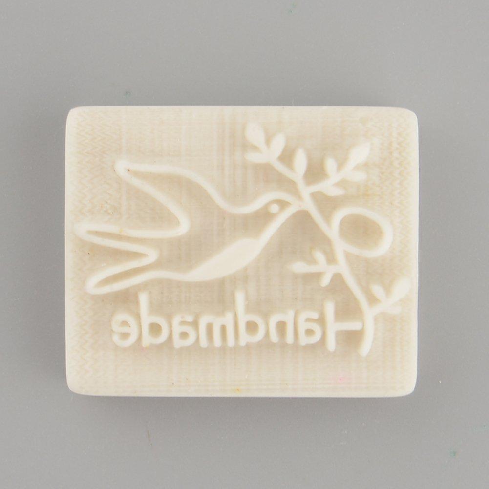 Kicode Yellow Resin Soap Stamp Pigeon Desing Handmade Stamping Mold Mould DIY Gift