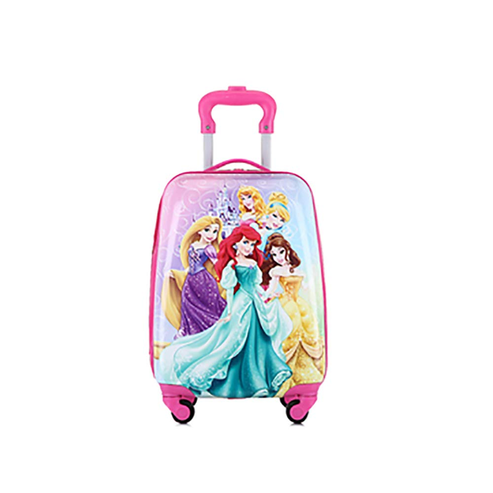 Travel Suitcase Kids Trolley Case Luggage Cute Cartoon Four Wheel Tow Box Trolley Case 18 Inch Princess