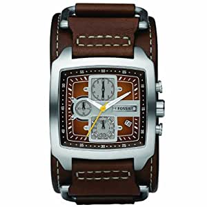 fossil men 39 s cuff jr1197 brown leather analog quartz watch. Black Bedroom Furniture Sets. Home Design Ideas