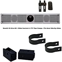 Wet Sounds Stealth 6 Ultra HD White + UTV Mounting Kit, Slider bracket and Round 1.75 Tube clamp