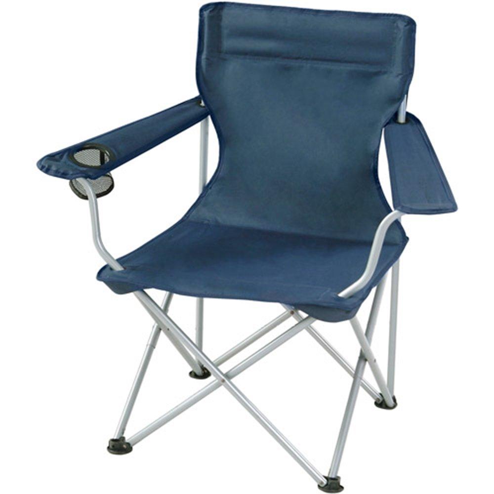 Outdoor folding chair YNN Im Freien bequemer faltender Strand-Freizeit-Malerei-Stuhl-Fischen-Stuhl, der kampiert (Farbe : Blau)
