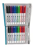 2 Pack Board Dudes SRX Dry Erase Markers, Medium Point, 10-Count, Assorted Colors. Packaging May Vary from Image (7162UA-24)