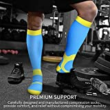 BLUETREE Compression Socks,(3 Pairs) Compression Sock for Women & Men - Best for Running, Athletic Sports, Crossfit, Flight Travel(Multti-colors11-S/M)