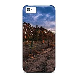 High Quality Shock Absorbing Cases For Iphone 5c-sunrise On A Perfect Vineyard