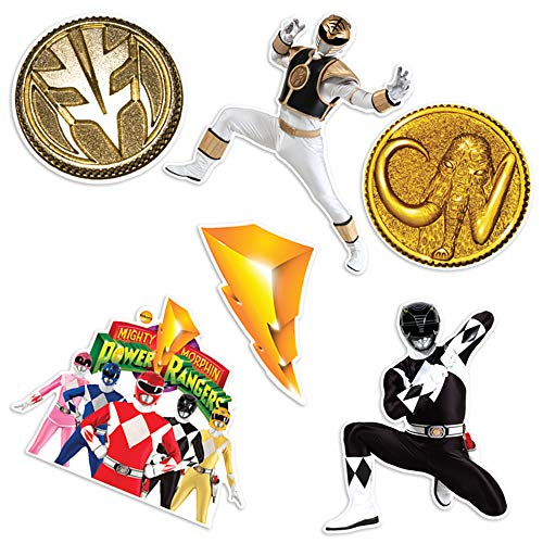 Popfunk Power Rangers Collectible Stickers with Black and White Rangers -