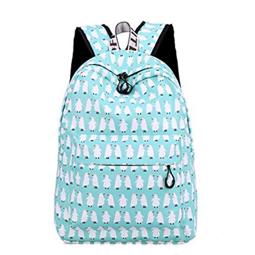 Pink Flamingo Animal Printing School Waterproof Backpack -